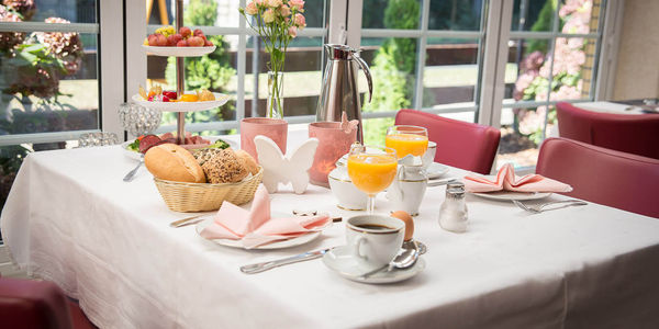 Frühstück im Hotel Baggernpuhl in Nauen im Havelland Brandenburg